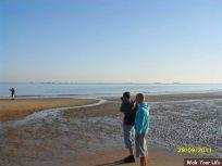dag 1 bart en lennard aan het strand