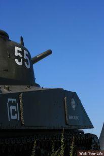 dag 1 een tank in arromanches