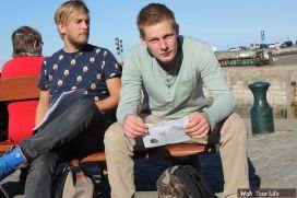 Dag 2 Coen en Pieter Jan bij het eindpunt