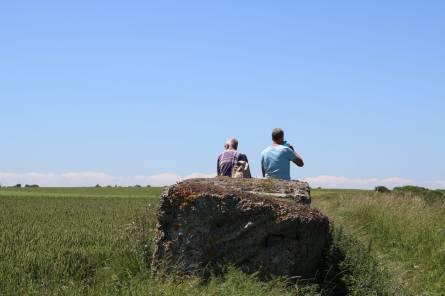 dag 1 - mooi dat ze die steen hier hebben neergelegd