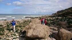 dag 1 - niels en irma een stuk langs het strand