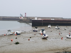 dag 1 - port en bessin laag water