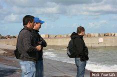 dag 1 samen over de vloedlijn uitkijken