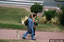 dag 2 vader en dochter op weg naar het centrum