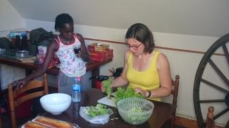 dag 2 - voorbereidingen voor de maaltijd
