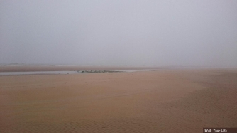 dag 3 - omaha beach in de mist - heel andere ervaring