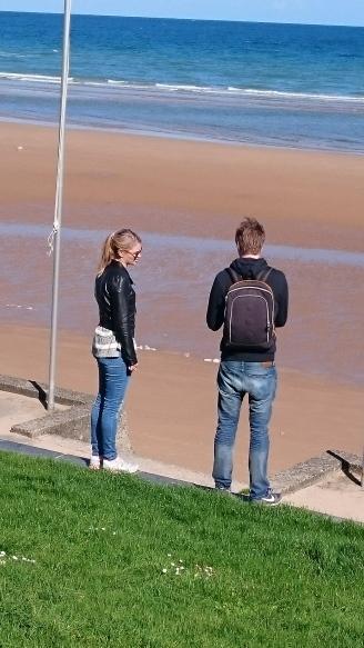 dag 3 - thijs en lois bij omaha beach