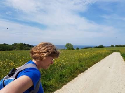 Henriette onderweg op dag 1