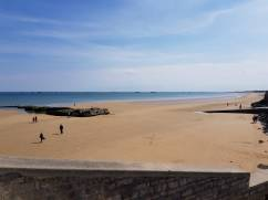 Het strand bij Arromanches