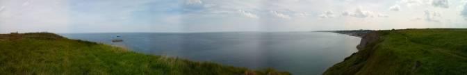 Uitzicht op Arromanches les bains